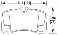 Click for a larger picture of Hawk Brake Pad, Porsche 911 GT2/3 Rear (D1299)
