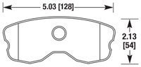 Click for a larger picture of Hawk Brake Pad: Corvette C6 Z06 / GS Rear, One-Piece (D1185)