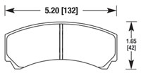 Click for a larger picture of Hawk Brake Pad, HB110 w/ 42mm Pad Depth
