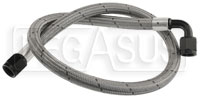 """Click for a larger picture of 811 PTFE Stainless Hose, 6AN Straight -90 deg. Ends, 26"""""""