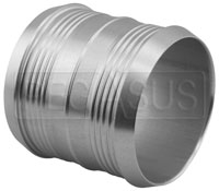 Click for a larger picture of 60mm (2 3/8 inch) Pegasus Pro Design Aluminum Hose Joiner