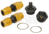 Click for a larger picture of Quick Disconnect Carb Kit 7/8-20 (Holley Dual) 6AN, Buna