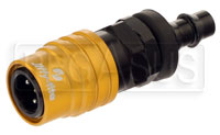 "Click for a larger picture of Quick-Disconnect Socket to 1/4"" Push-Lock Hose Barb"