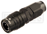 Click for a larger picture of Quick-Disconnect Socket to 4AN Hose End, Black