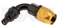 Click for a larger picture of Quick-Disconnect Plug to 6AN Hose End, 90 Degree
