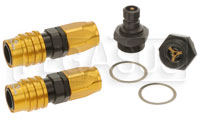 Click for a larger picture of Quick Disconnect Carb Kit 7/8-20 (Holley Dual Feed), 8AN