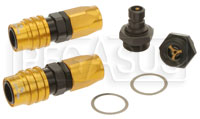 Click for a larger picture of Quick Disconnect Carb Kit 7/8-20 (Holley Dual) 8AN, Buna
