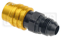 Click for a larger picture of Clearance Quick-Disconnect Socket to 8AN Male, non-valved