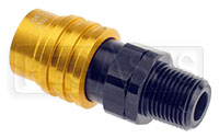 Click for a larger picture of Quick-Disconnect Socket to 3/8 NPT Male, Buna Seals