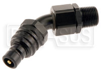 Click for a larger picture of Quick-Disconnect Plug to 3/8 NPT Male, 45 Degree