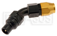 Click for a larger picture of Quick-Disconnect Plug to 10AN Hose, 45 Degree
