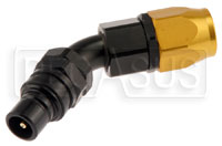 Click for a larger picture of Quick-Disconnect Plug to 12AN Hose End, 45 Degree