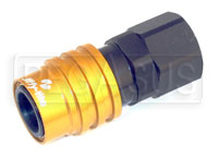 Click for a larger picture of Quick-Disconnect Socket to 8AN Female, Non-Valved