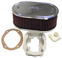 """Click for a larger picture of K&N Air Filter, Weber 32/36 DFV, DFD - 5.5 x 9 x 3.25"""" H"""