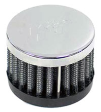 Click for a larger picture of K&N Push-On Crankcase Vent Filter, 1.5 H x 2.0 D, 1.0 ID