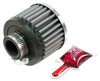 Click for a larger picture of K&N Rubber Base Crankcase Vent Filter, 2.5 H x 3.0 D, 1.0 ID