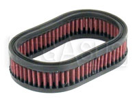 Click for a larger picture of K&N Filter Element, Small Oval (4.5 W x 7 L x 1.75 H)
