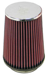 Click for a larger picture of K&N Clamp On Filter, Round Tapered, 2.87 FL, 4.5 B x 5.87 H