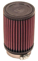 Click for a larger picture of K&N Clamp On Filter, Round, 2.5 FL, 3.5 OD x 5 H