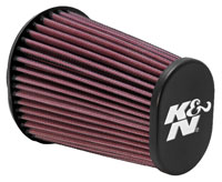Click for a larger picture of K&N Clamp On Filter, Oval Tapered, 2.44 FL, 4.5 x 3.75B x 6H
