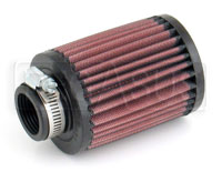 Click for a larger picture of K&N Clamp-On Filter, Round, 1.25 Flange, 3 OD x 4 H