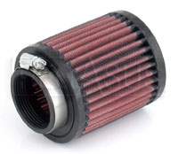 """Click for a larger picture of K&N VW Solex Round Filter, 2.06 Flange, 3.5 D x 4"""" H, Rubber"""