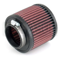 Click for a larger picture of K&N Clamp On Filter, Round, 2.44 Flange, 4.5 OD x 4 H