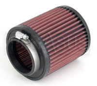 Click for a larger picture of K&N Clamp On Filter, Round, 2.68 Flange, 4.5 OD x 5 H