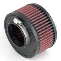 Click for a larger picture of K&N Clamp On Filter, Round, 2.75 FL, 5.5 D x 3 H, .44 Offset
