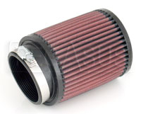 Click for a larger picture of K&N Clamp On Filter, Round, 2.75 Flange, 4 OD x 5 H, 10 Deg