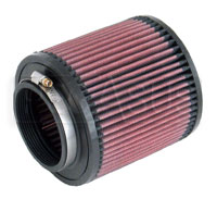 Click for a larger picture of K&N Clamp On Filter, Round, 3 Flange, 5 OD x 5 H