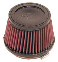 Click for a larger picture of K&N Clamp On Filter, Round Tapered, 4 FL, 5.38 B x 3.5 H