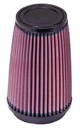 Click for a larger picture of K&N Clamp On Filter, Round Tapered, 3.5 FL, 4.6 D x 7 H