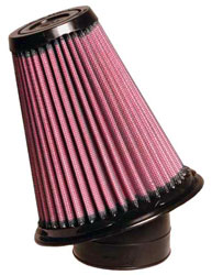 Click for a larger picture of K&N Clamp On Filter, Round Taper 2.5 FL, 5.25x5.75 H, 20 deg