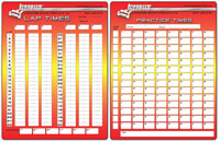 Click for a larger picture of Longacre Lap Timing Sheets, 2 Pads, 50 Sheets each