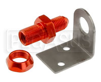 Click for a larger picture of 4AN Brake Fitting with Frame Tab, Weldable or Rivet Mount