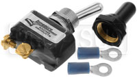 Click for a larger picture of Longacre Sealed SPST Toggle Switch with Weatherproof Boot