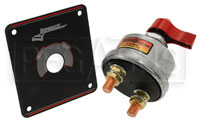 Click for a larger picture of Longacre 2-Terminal Battery Disconnect Switch w/ Black Panel