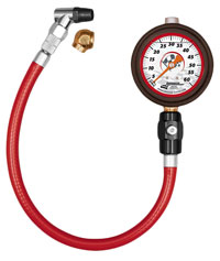 "Click for a larger picture of Longacre 2.5"" Liquid Filled Tire Pressure Gauge, 0-60 psi"