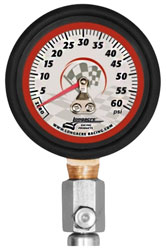 "Click for a larger picture of Longacre 2"" Glow In Dark Tire Pressure Gauge, 0-60 psi"