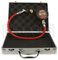 Click for a larger picture of Longacre Digital Tire Gauge, 0-125 psi, Angled & Ball Chuck