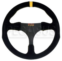 "Click for a larger picture of Longacre Anatomical Suede Steering Wheel, 290mm (11.4"")"