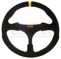 """Click for a larger picture of Longacre Anatomical Suede Steering Wheel, 320mm (12.6"""")"""