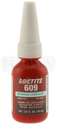 Click for a larger picture of Loctite 609 Bearing Mount (Green) Retaining Compound, 10ml