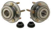 Click for a larger picture of Ford FR500S Front Hub Kit with Studs (pair)