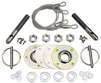 Click for a larger picture of Ford Racing Hood Pin Kit, Set of 2