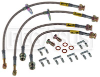 Click for a larger picture of Ford Fiesta Stainless Steel Brake Line Kit