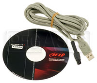Click for a larger picture of AiM MXm / MyChron3 Plus Download Cable w/ FREE RS 2 Software