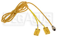 Click for a larger picture of MyChron4 2T/ MyChron5 2T Y-Cable, 2 Thermocouples