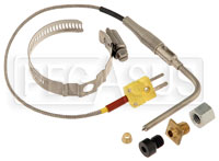 Click for a larger picture of AiM Open-Tip EGT Thermocouple with Weld Bung and Clamp